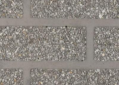 BSM Graniet zwart/wit op zwarte voeg