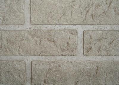 BSM Rustiek baksteenmotief op glad beton