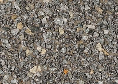 Granit auf Molsand + 1% schwarzer Farbstoff (grauer Zement)