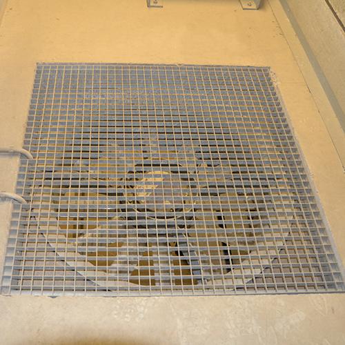 Product: vloerplaat aardappelloods met opening voor ventilator