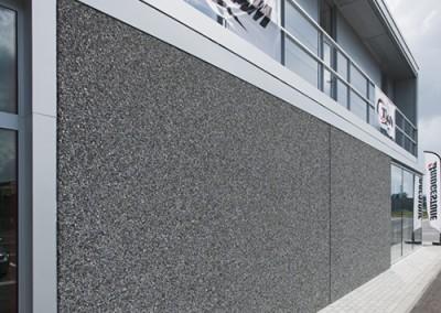Graniet zw/w 8/12 + molzand + 1% zwarte kleurstof